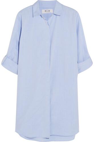 shirt oversized cotton blue sky blue top