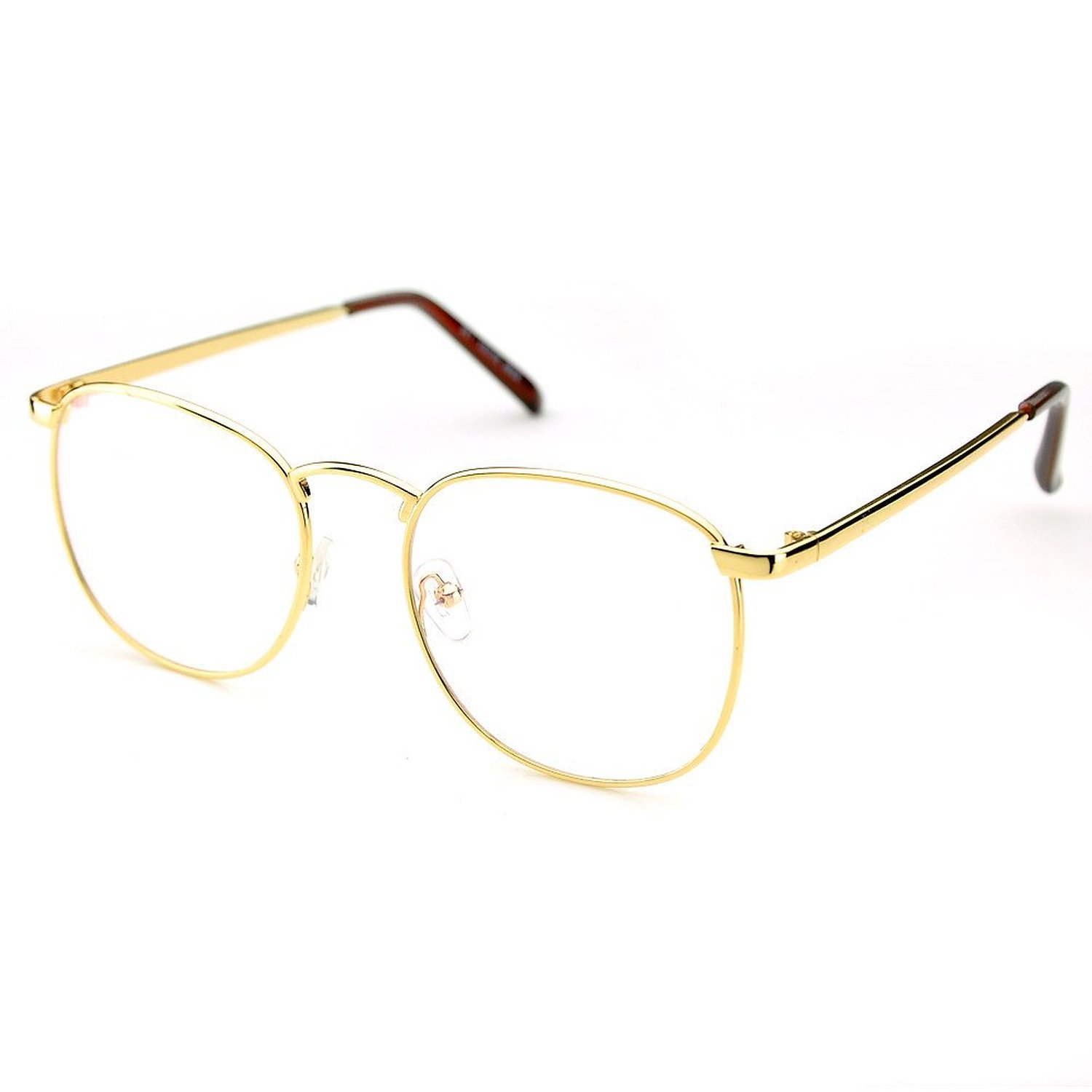 Amazon.com: PenSee Oversized Circle Metal Eyeglasses Frame Inspired ...