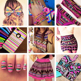 shirt skirt hair bow t-shirt swimwear nail polish jewels jeans tank top colorful iphone case bows dress aztec aztec skirt aztec top aztec dress coulorful fashion blouse jupe coque iphone noeud papillon aztec tshirt aztec bikini multicolor mini skirt bustier corset bikini sexy pink crop tops etnic etnico moda etnica etnic fashion etnic top etnic bow i phone bracelets nails nail art moda falda pattern patterned skirt