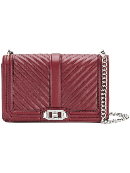 Rebecca Minkoff cross women love quilted bag leather chevron red