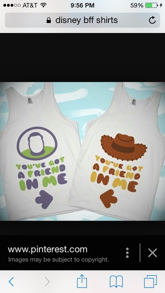 shirt disney disney shirt disney top you've got a friend in me bff shirts bff t-shirts toy story matching shirts