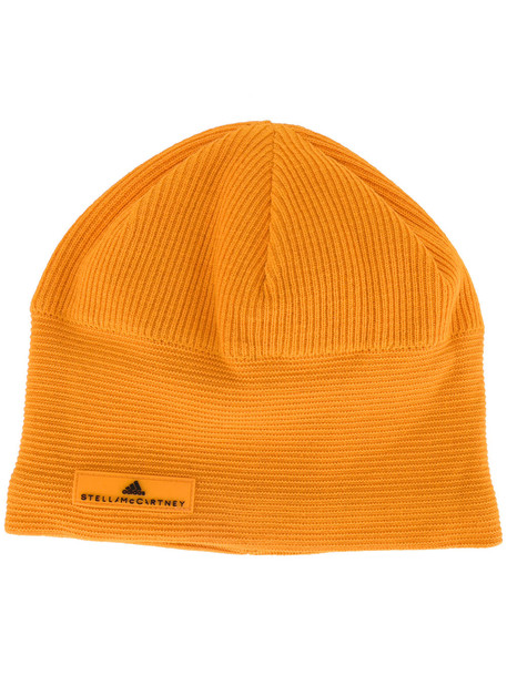 beanie yellow orange hat