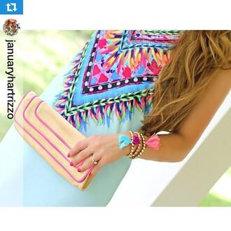 dress boutique estella day dress mint dress blue dress colorful dress bright colors tribal pattern aztec party dress