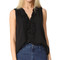 L'agence natasha sleeveless ruffle blouse - black