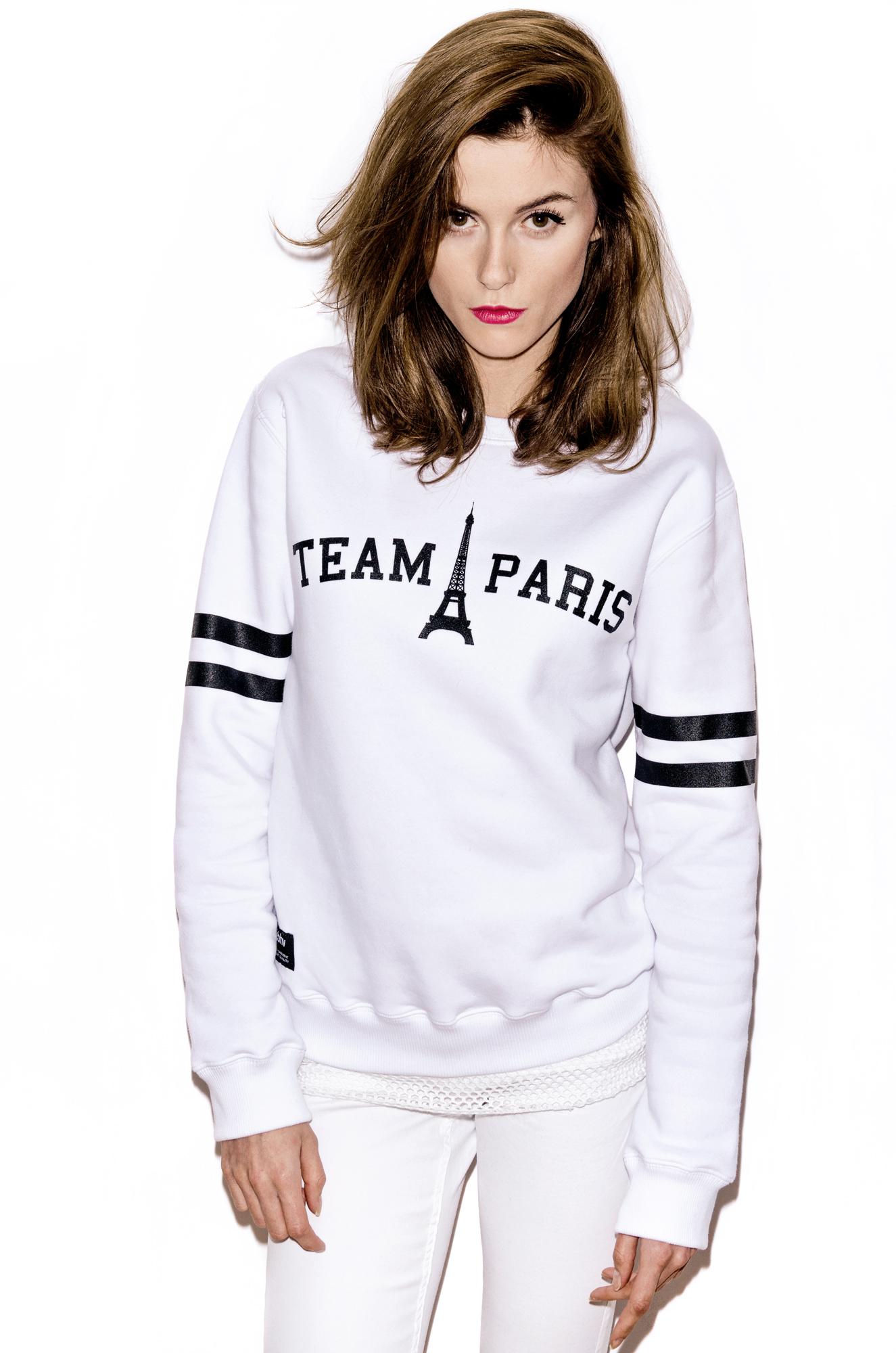 TEAM PARIS SWEATSHIRT WHITE  x MISBEHAVE!