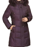 Blueblue sky women's thickened down coat with faux rabbit fur collar#yr