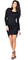 Tie the knot long black long sleeve dress
