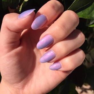 nail polish nail purple nail polish purple blue sparkle boho grunge nail accessories hippie