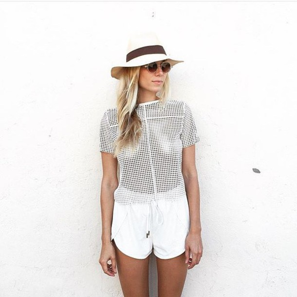 White Leather Shorts - Shop for White Leather Shorts on Wheretoget