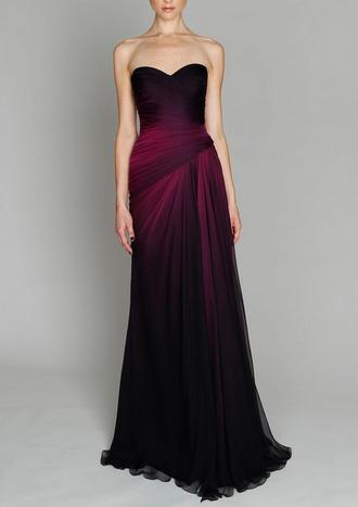 long dress gown purple bustier dress purple dress ombre prom dress bridesmaid draped