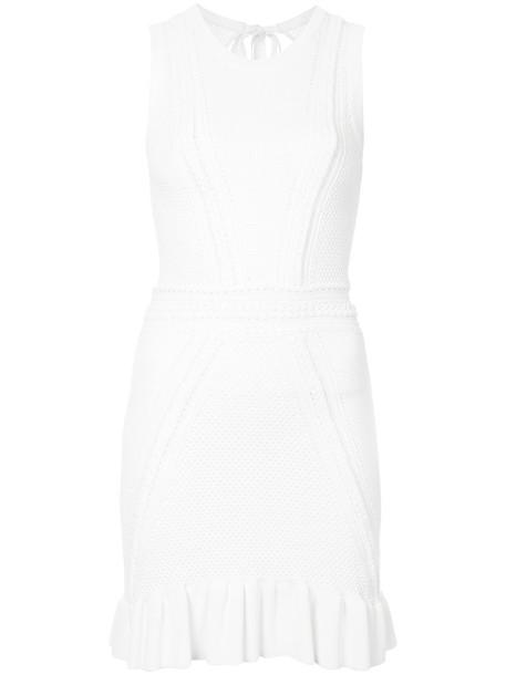 Rebecca Vallance dress women white knit