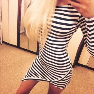 dress striped dress asymmetrical dress