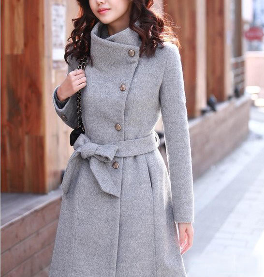 Fitted Wool autumn winter Pashm Coat jacket / dress Wool Jacket