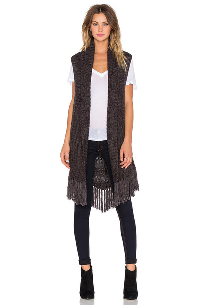 Sanctuary vest folk charcoal
