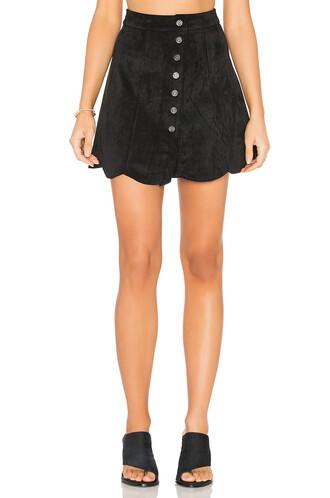 skirt suede skirt suede black