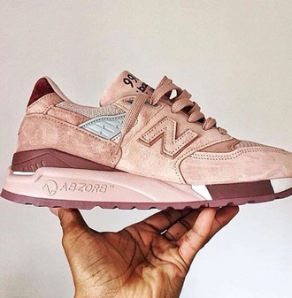 shoes new balance old rose suede sneakers rose gold