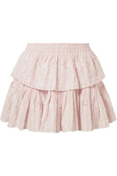 skirt mini skirt mini cotton peach