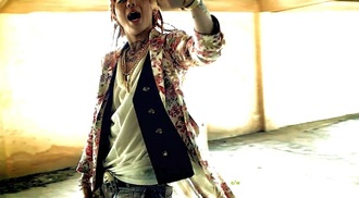 jacket zico blockb music video kpop floral floral print jacket long sleeves