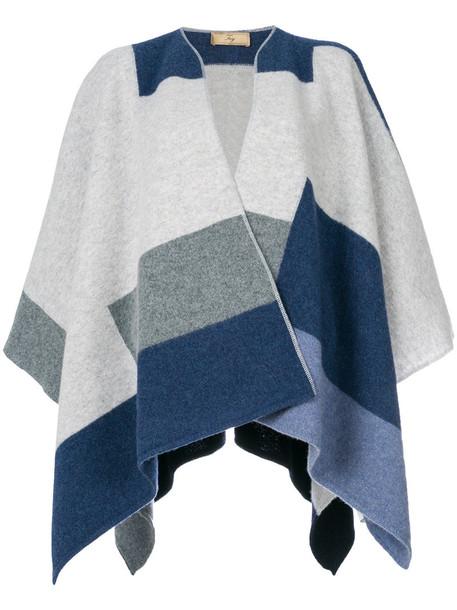 FAY poncho women wool grey top