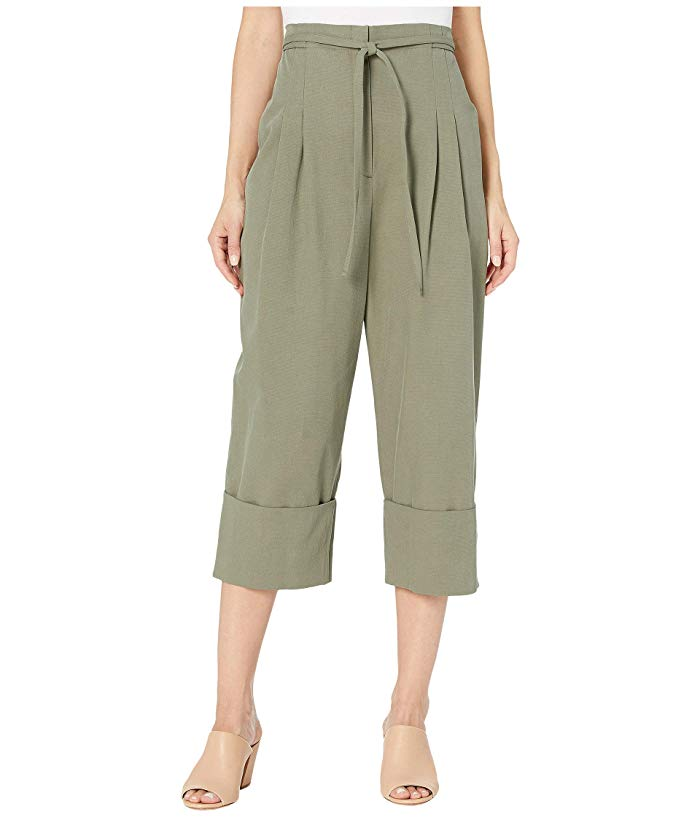 BCBGMAXAZRIA Cropped Belted Pants