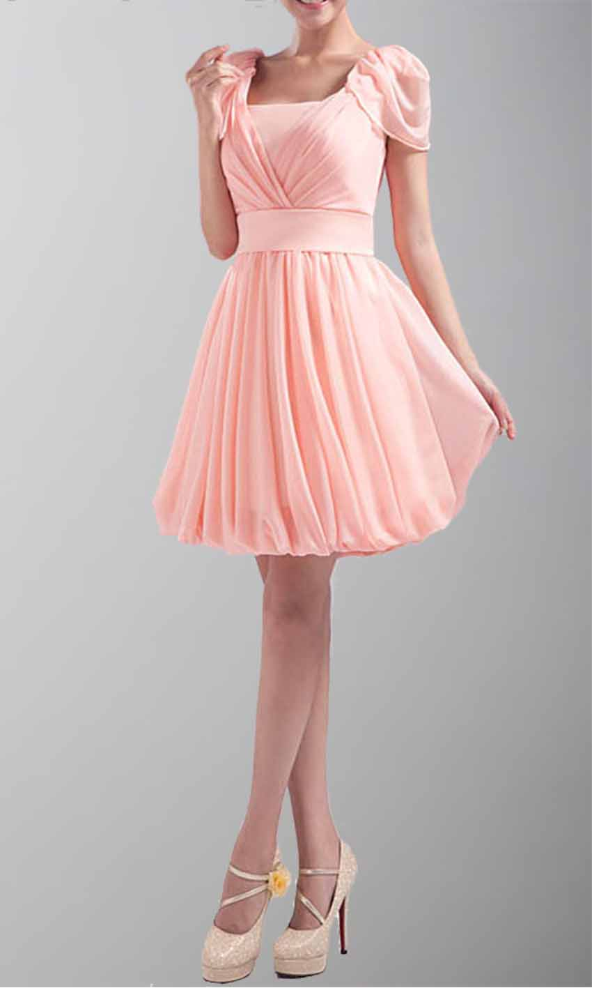 Scoop Neck Cap Sleeves Pink Chiffon Prom Dress KSP039 [KSP039] - £79.00 : Cheap Prom Dresses Uk, Bridesmaid Dresses, 2014 Prom & Evening Dresses, Look for cheap elegant prom dresses 2014, cocktail gowns, or dresses for special occasions? kissprom.co.uk offers various bridesmaid dresses, evening dress, free shipping to UK etc.