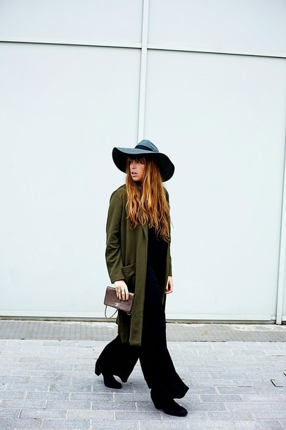 fringe and frange blogger shoes jumpsuit jacket hat bag