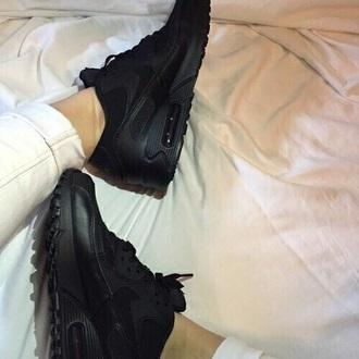shoes sneakers black nike nike shoes nike sneakers black shoes black sneakers sportswear sports shoes sports sneakers nike air nike air force 1 nike air max 90