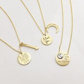 jewels,quote on it,gold,gold jewelry,gold necklace,necklace,fashion,style,www.ebonylace.net,love quotes,valentines day gift idea,jewelry,inspirational jewelry,cute,be brave and keep going,be brave and keep going necklace