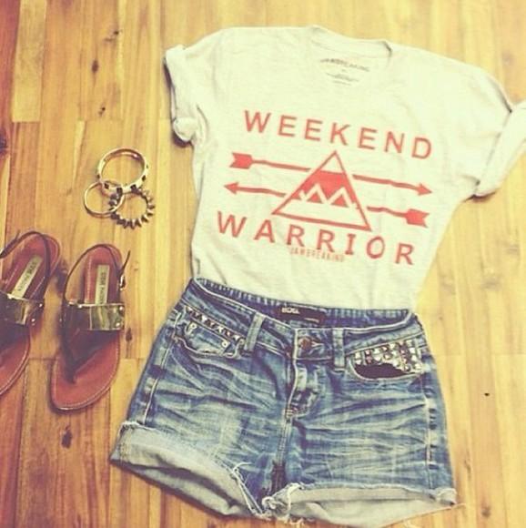 triangle cute top white weekend warrior