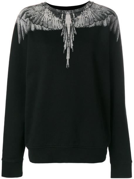 Marcelo Burlon County Of Milan - Mapu crew neck sweater - women - Cotton - S, Black, Cotton