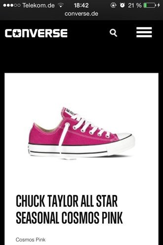cosmos pink converse low sneakers