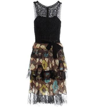 dress printed dress lace