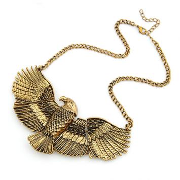 Vintage Eagle Statement Necklace
