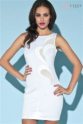 Lovely White Mesh Stretch Body Con Dress BNWT 12 | eBay