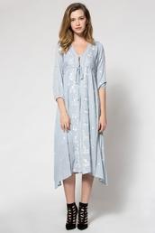 dress,zaful,boho,trendy,vintage,pastel,beautiful,pastel blue,tribal pattern,summer,summer outfits,girly