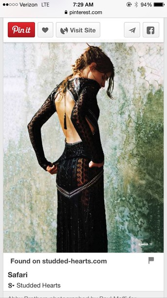 dress backless black maxi dress bohemian