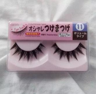 make-up false eyelashes eyelashes japanese japan kawaii cute pink