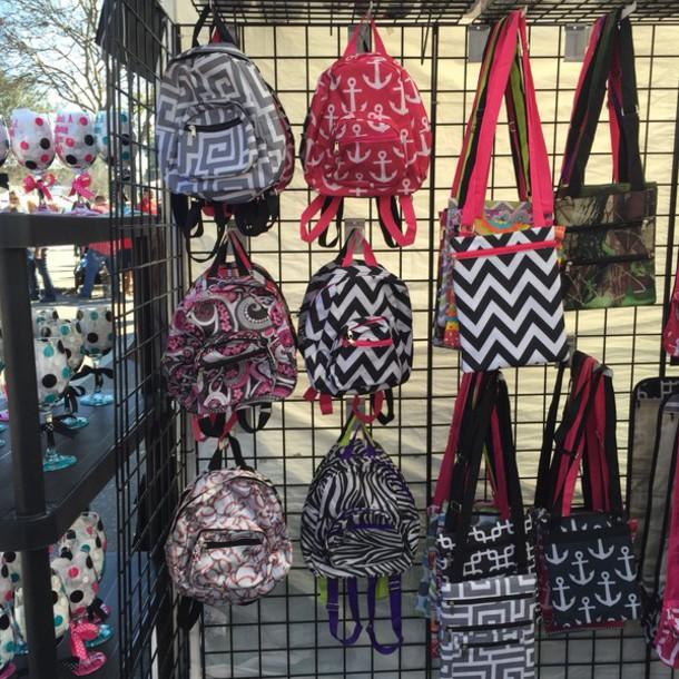 bag chevron anchor backpack mini