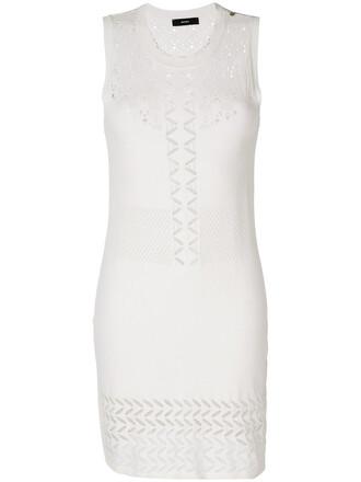 top women white crochet