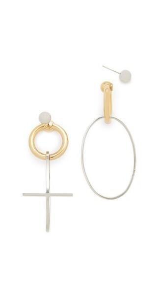 cross earrings gold jewels