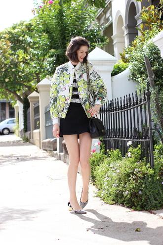by chill blogger top skirt bomber jacket mini skirt