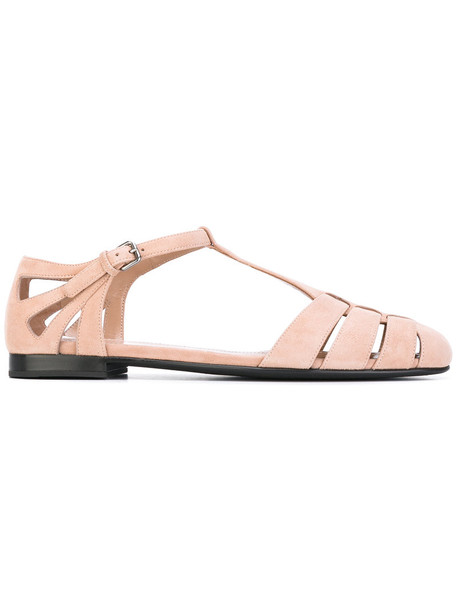 Church's women sandals flat sandals leather purple pink shoes