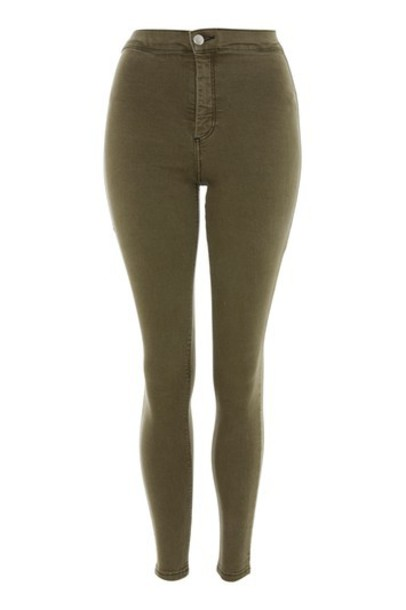 Topshop jeans dark khaki
