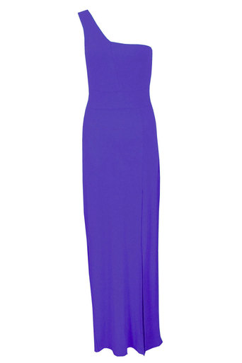 Womens Lydia One shouldered Maxi dress In purple | Pop Couture