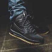 shoes,exc,nike,teyana taylor,black,matte,high top sneakers,black shoes