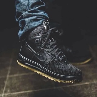 shoes exc nike teyana taylor black matte high top sneakers black shoes