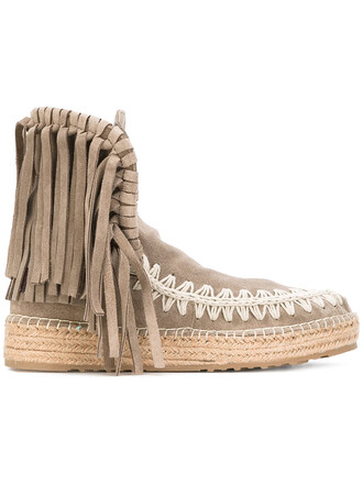 boot women leather nude shoes