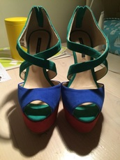 shoes,high heels,tony bianco,green,blue high heels,pink shoes
