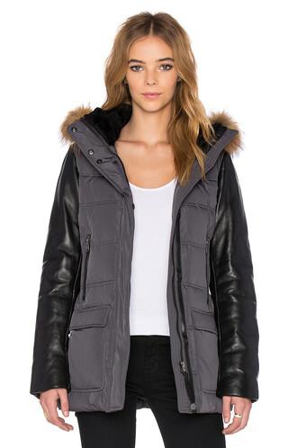 jacket fur jacket fur charcoal