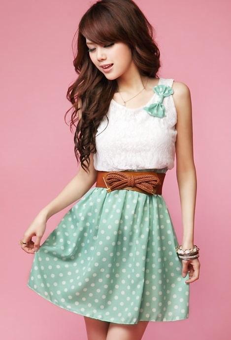 Lovely polka dot dress chiffon   lace from pretty lovely on storenvy